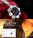 【鑑別書付き】 オパールの王 天然ブラックオパール 取り巻き ペンダント 10月誕生石 プレゼント ネックレス