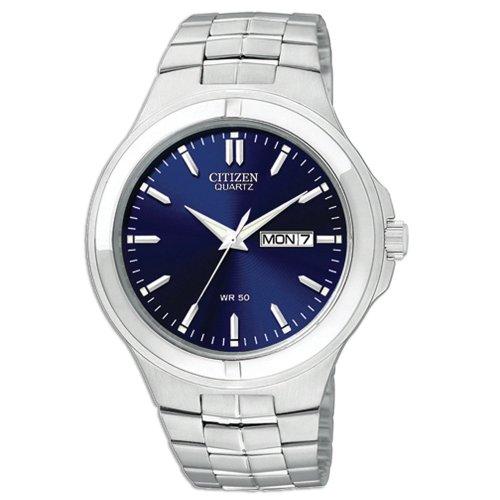 Citizen Quartz Day Date Blue Dial Men'S Watch - Bf0590-53L