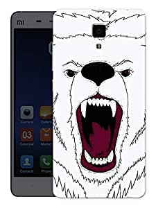"""Humor Gang Angry Bear Face Printed Designer Mobile Back Cover For """"Xiaomi Redmi Mi4"""" (3D, Matte, Premium Quality Snap On Case)"""