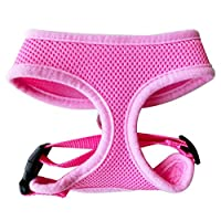 FUNPET Soft Mesh Dog Harness No Pull Comfort Padded Vest for Small Pet Cat and Puppy