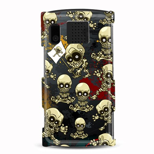 Hard Plastic Snap On Cover Fits Kyocera M6000 Zio Skull Robot Glossy Us Cellular (Please Carefully Check Your Device Model To Order The Correct Version.) front-122077