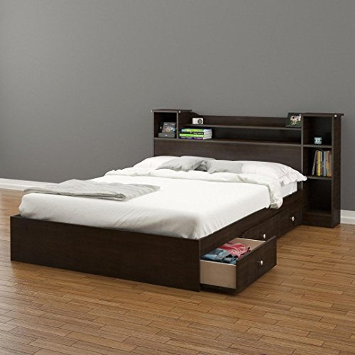 Pocono 3-Drawer Storage Bed with Bookcase Headboard Full (Side Of The Bed Storage compare prices)