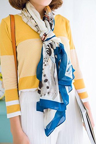 FEI&S Seaside Beach asciugamano Sun super long sciarpa sciarpe scialle sciarpa a doppio uso,B,185*90
