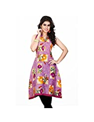 Mutli Color Cotton Printed Kurti - B00ZUAZ8V6