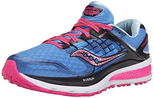 Saucony Women's Triumph ISO 2 Running Shoe, Blue/Pink, 9 M US