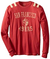 NFL San Francisco 49ers Men's Bruiser Long Sleeve Tee from '47 Brand