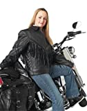 Diamond plate Women's Solid Genuine Leather Motorcycle Jacket -X-Large Black by NYC Leather Factory Outlet