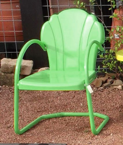 Buy parklane retro metal lawn chair honeydew low prices with lawn chairs outdoor patio Vintage metal garden furniture