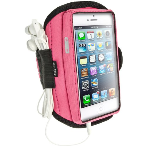 Igadgitz Pink Water Resistant Neoprene Sports Gym Jogging Armband For New Apple Iphone 5, 5S, 5C Cell Phone 4G Lte