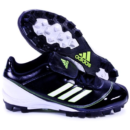 MONICA MD LOW W BY ADIDAS G48790 WOMEN'S SOFTBALL MOLDED CLEATS BLACK WHITE NEON US WOMEN'S 8.5M