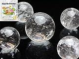 [ ハッピーボム ] Happy Bomb 地鎮水晶 クリーンアップ クリスタル 丸玉 5個セット 選べる大きさ 【 S 約20~30mm 】 M 約25~35mm 大粒 L 約30~40mm 2L 約35~45mm 邪気払い 浄化 運気アップ 天然石 パワーストーン 図解説明書付 地鎮 本水晶 水晶 クオーツ クリスタル 置石
