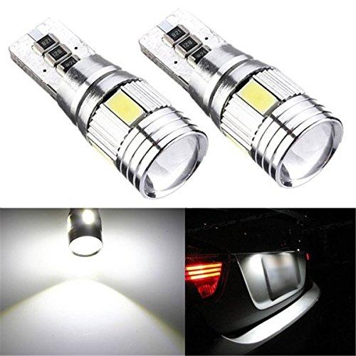 AUDEW-2-x-T10-6-LED-5630-SMD-lampadine-6500K-HID-Canbus-Errore-lampada-libero