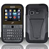 3-in-1 Bundle For Samsung S390G-VGUARD Dual- Layer Hard/Gel Hybrid Kickstand Armor Case (Black/Black)+ICE-CL... by ICE-CLEAR(TM) Samsung S390G