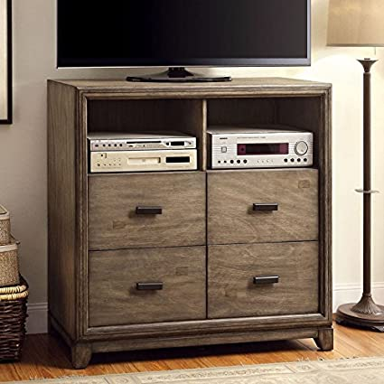 Antler Transitional Style Natural Ash Finish Bedroom Media Chest