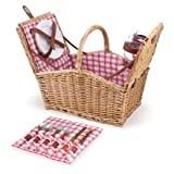 Search : Picnic Time Piccadilly Dual-Lid Picnic Basket with Service for Two