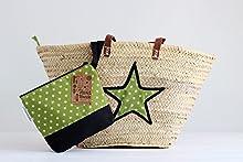 Pack capazo y cartera de mano estrella verde
