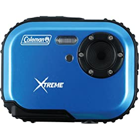 Coleman Mini Xtreme C3WP-BL 5 MP Waterproof Digital Camera with CMOS Sensor and 1x Optical Zoom (Blue)