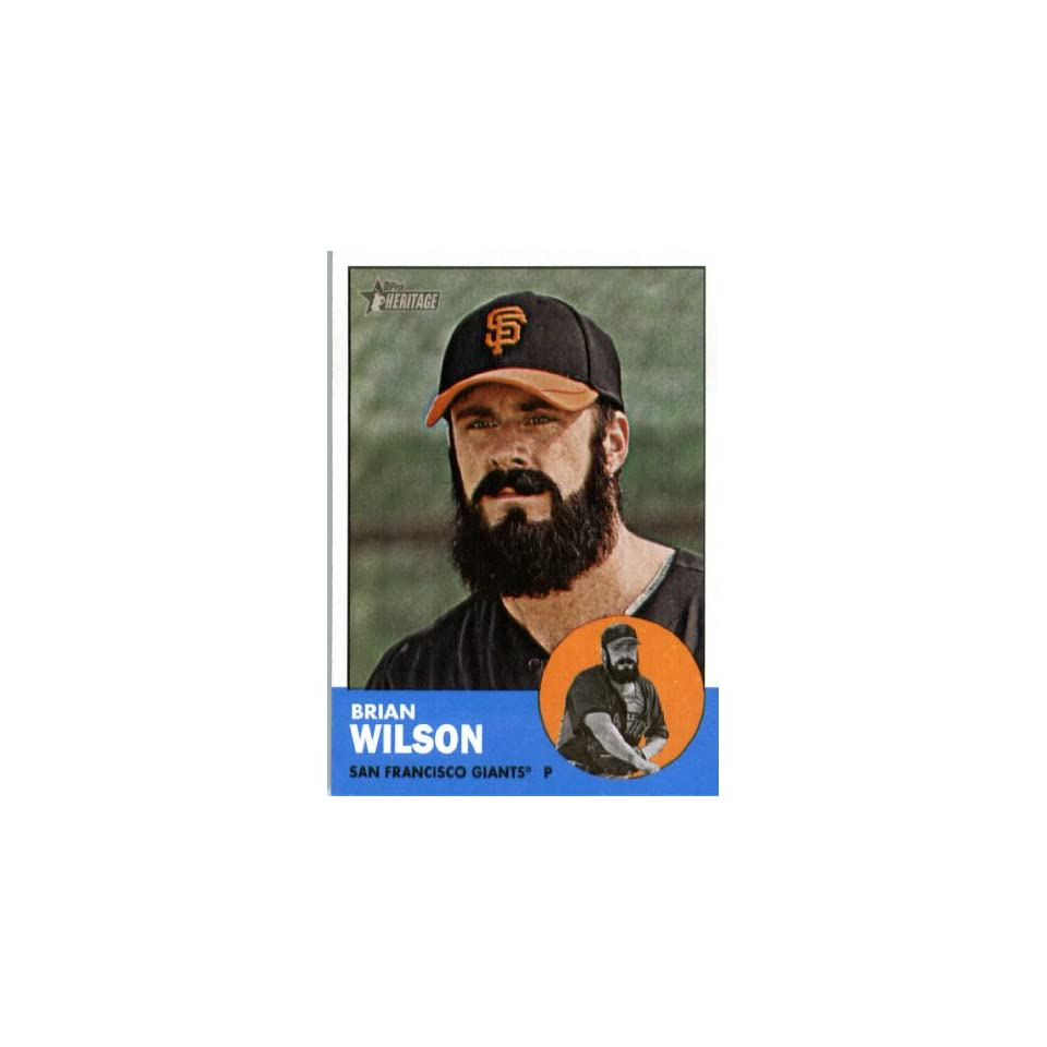 2012 Topps Heritage 325 Brian Wilson   San Francisco Giants (ENCASED