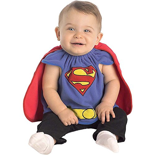 Superman Deluxe Bib Infant Costume Size 0-9 Months