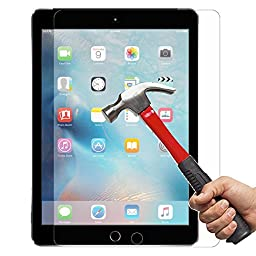 [2 Pack] [Lifetime Warranty] iPad Air / Air 2 / Pro Screen Protector, InaRock 0.26mm Tempered Glass Screen Protector for Apple iPad Air / iPad Air 2 / iPad Air / iPad Pro [Easy-Install Wings]