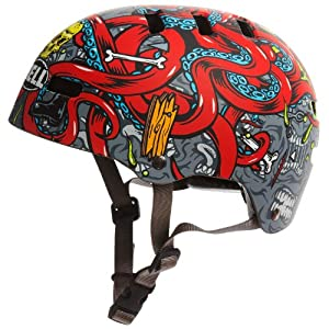Bell Fraction Youth Multi-Sport Helmet (Octopus, X-Small)