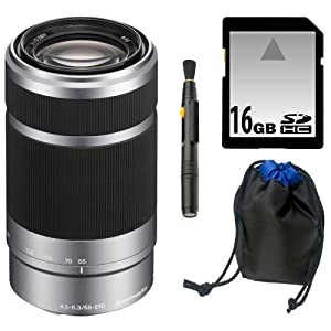 Sony DSLR SEL55210 55-210MM F4.5-6.3 E-Mount Lens Kit K1