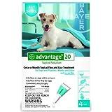 Advantage Flea Killer for Dogs, TEAL, 11-20LBS. 4 Month Supply, U