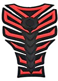 3D Motorcycle Tank Gas Protector Pad Sticker Fiber Rubber Decal Red Fit For Suzuki 600/750 KATANA 1998 1999 2000 2002 2002 2003 2004 2005 2006