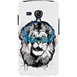 For Samsung Galaxy S3 Mini I8190 :: Samsung I8190 Galaxy S III Mini :: Samsung I8190N Galaxy S III Mini Tiger Face ( Tiger Face, Face, Grey Tiger, Headphone ) Printed Designer Back Case Cover By FashionCops