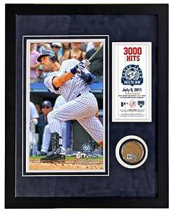MLB New York Yankees Derek Jeter 3,000th Hit Framed 11x14 Mini Dirt Collage by Steiner Sports