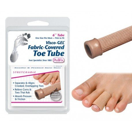 Visco-GEL? Fabric-Covered Toe Tube Small - World Wide Shipping