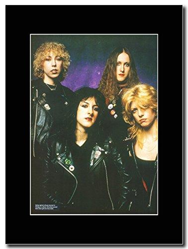 Girlschool-Girls con Ballds Magazine Promo su un supporto, colore: nero