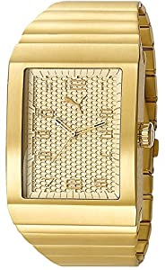 Puma Time Herren-Armbanduhr Oxygen  Metal Gold Analog Quarz Edelstahl PU102761004