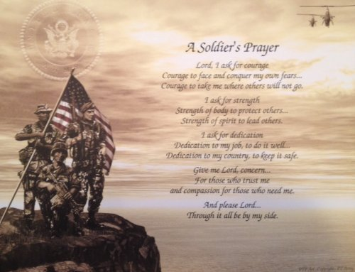 Army Soldier's Prayer Great Gift Idea for Father's Day Birthday Veterans Day Any Occasion Husband Son Dad Military