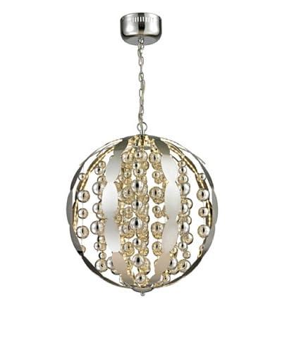 Artistic Lighting Light Spheres Collection Large LED Pendant, Polished Chrome
