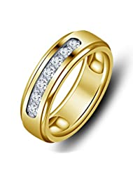 Vorra Fashion Round Cut White CZ 14k Gold Plated 925 Sterling Silver Lovely Band Ring Available In All Size 5...