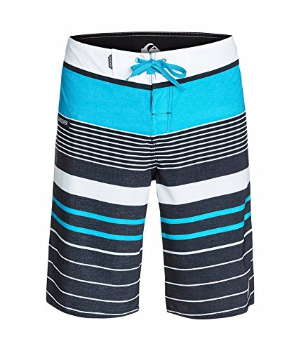 Quiksilver YG Stripe Board Short - Men's Hawaiian Ocean, 30 Quiksilver Casual Shorts