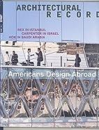 Architectural Record, November 2010. Vol.…