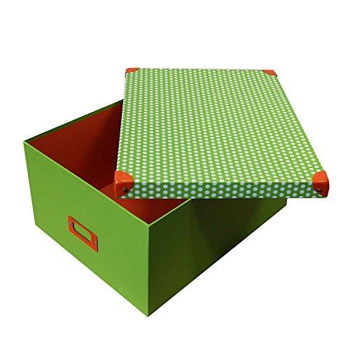6 st ck deko karton mit deckel bunt mit punkten stapelbox. Black Bedroom Furniture Sets. Home Design Ideas