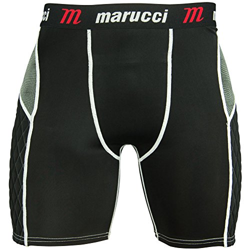 Fantastic Deal! Marucci Youth Elite Padded Slider Shorts with Cup