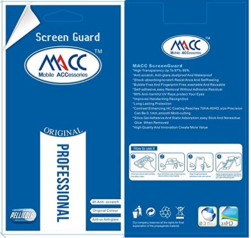 MACC Pack of 2 Clear High Quality Screen Guard for Moto G2 / MotoG2 (2nd Gen) XT1068