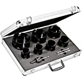 Starrett KMP07031-N 10-Piece Tungsten Carbide Tipped General Purpose Hole Saw Kit with Aluminum Case