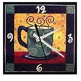 decoupage coffee cup wall clock