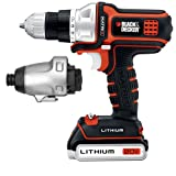 512P93HahAL. SL160  Lowest Price Black &amp; Decker BDCDMT120IA 20 volt Matrix Drill and Impact Combo Kit ..Get This