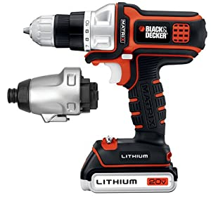 Black & Decker BDCDMT120IA 20-volt Matrix Drill and Impact Combo Kit