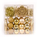 Christmas Star Gold Bauble Set