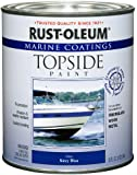 Rust-Oleum 207002 Marine Topside Paint, Navy Blue, 1-Quart
