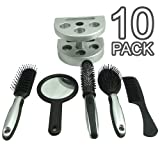 5 Piece Salon Style Hair Brush Set In Stand (2 Sets)