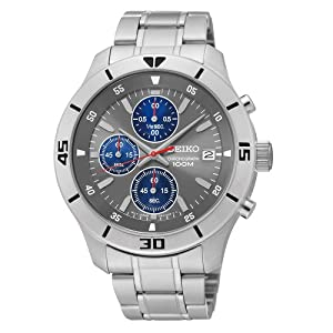 Seiko Men's SKS407 Analog Display Japanese Automatic Silver Watch