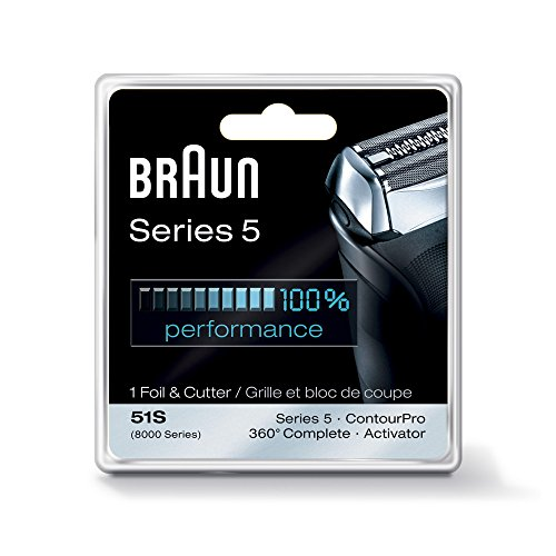 Braun Series 5 51S Foil & Cutter Replacement Head Silver (Braun 8000 Foil compare prices)
